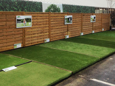 Artificial Grass Display at Burcot Garden Centre