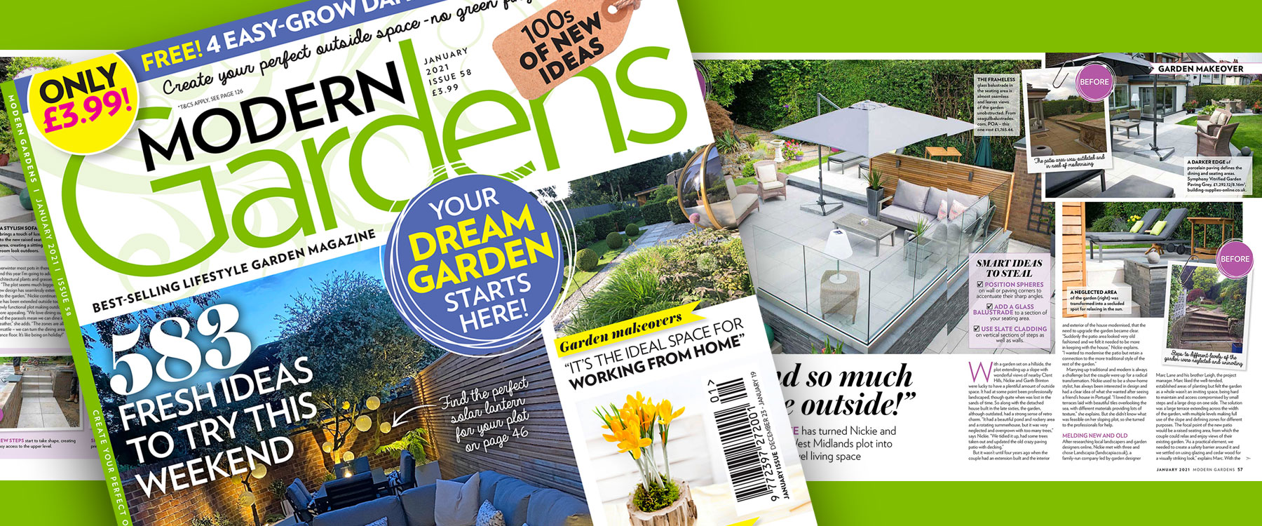 Featured in Modern Gardens Magazine January 2021